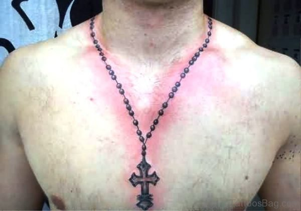 Rosary Necklace Tattoo For Men