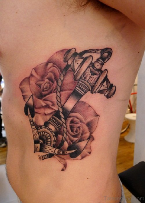 Rose And Anchor Tattoo