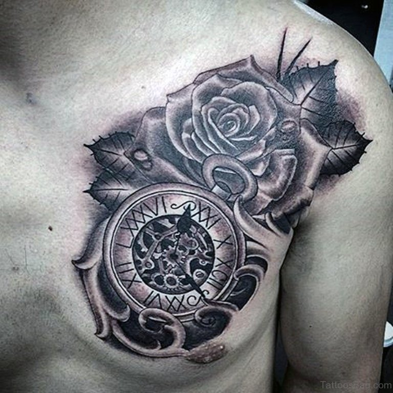 64 mind blowing clock tattoos for chest
