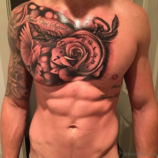 Rose Clock Tattoo