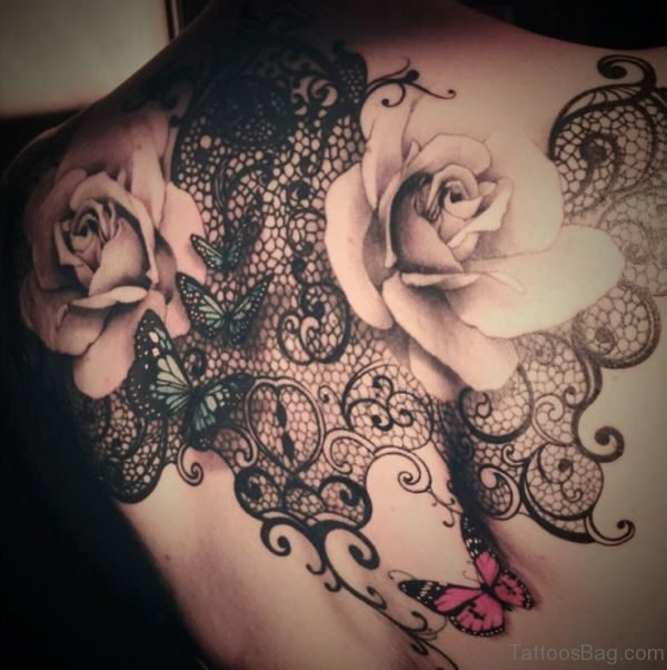 Rose Flower Shoullder Tattoo Design