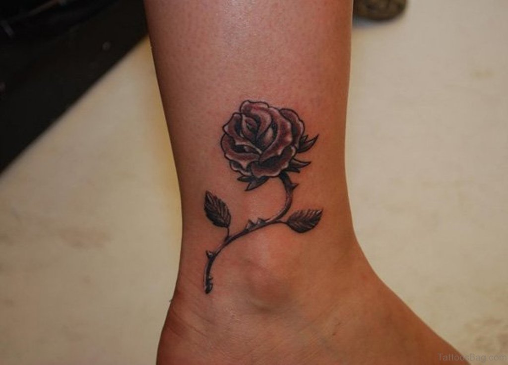 41good looking rose tattoos for ankle rose tattoo urmus Images