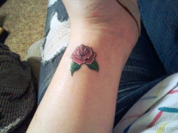 Rose Tattoo Design On Wrist