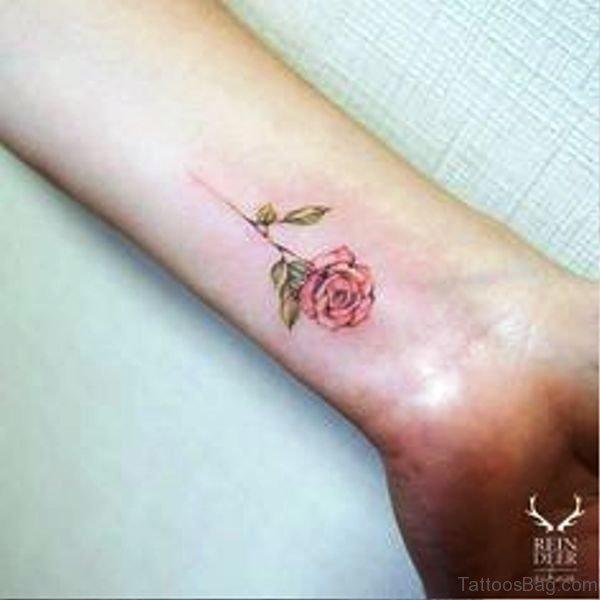 Rose Tattoo On Wrist