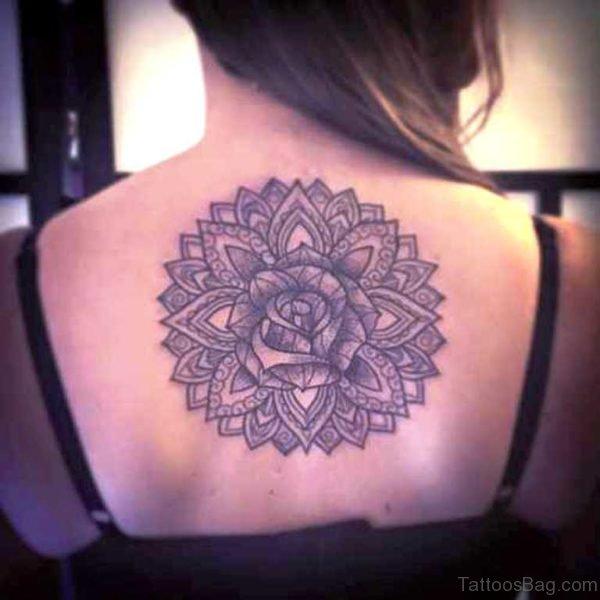 Round Celtic Tattoo On Back