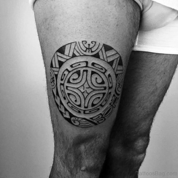 Round Tribal Tattoo