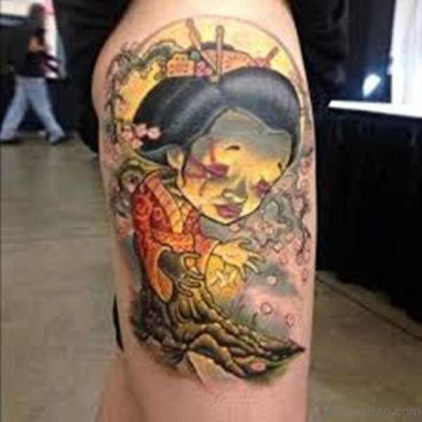 Sad Geisha Tattoo