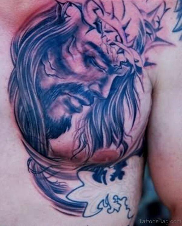 Sad Jesus Tattoo