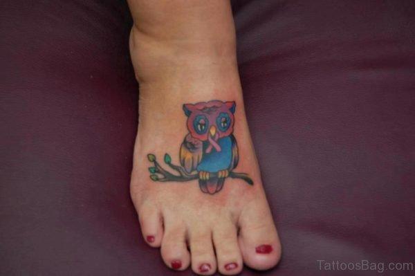 Sad Owl Tattoo