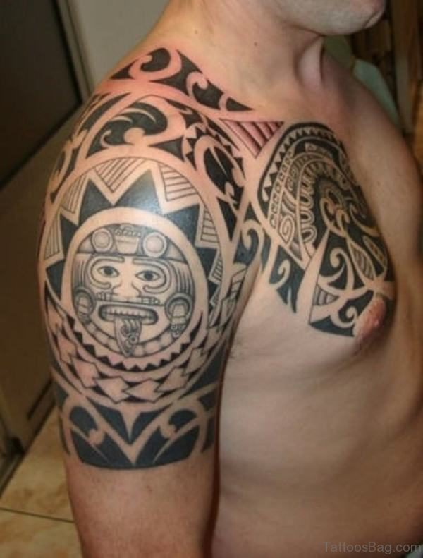 Samoan Face Tattoo Design