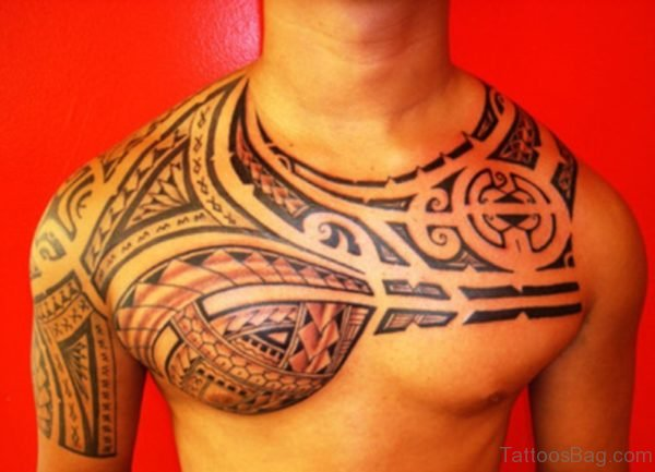 Samoan Left Shoulder Tattoo
