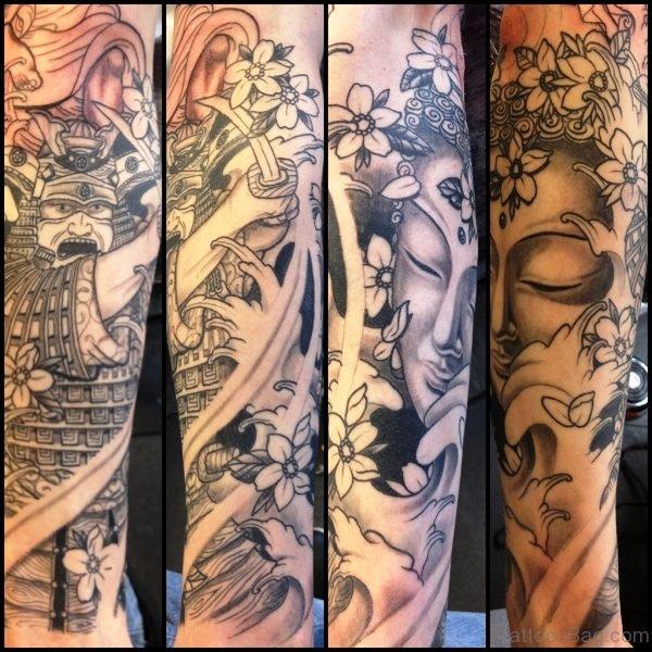 Samurai Buddha Tattoo Design