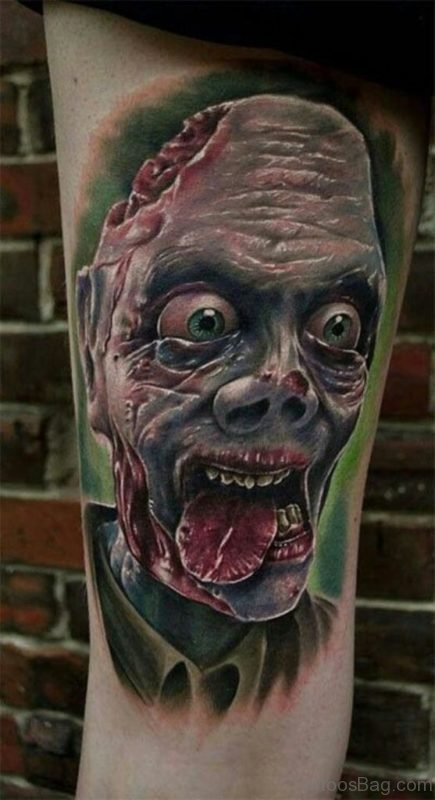 Scary Face Tattoo