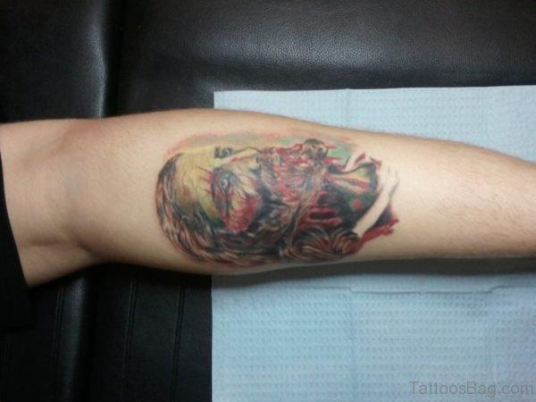 Scary Jesus Tattoo