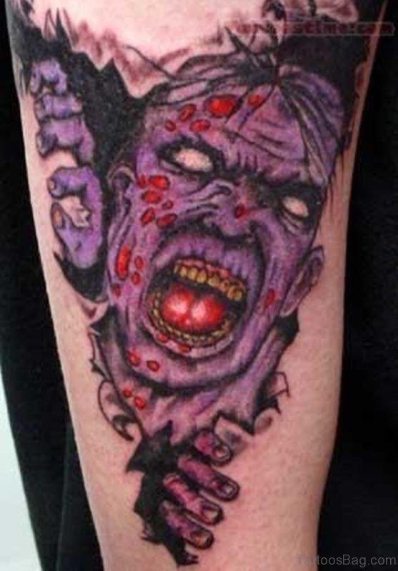 Scary Zombie Tattoo