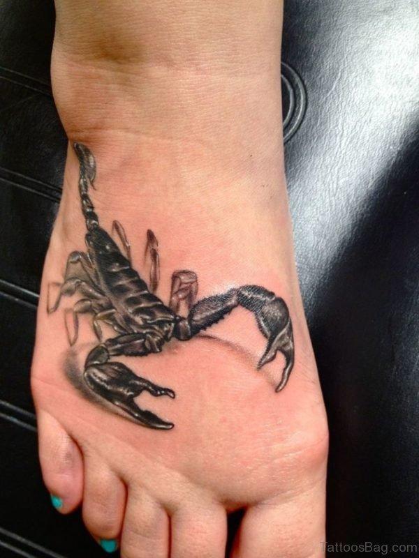 Scorpion Tattoo Design Foot