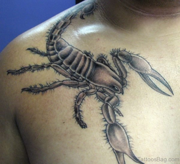 Scorpion Tattoo For Men Chest