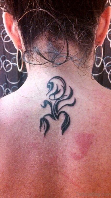 Scorpion Tattoo On Nape