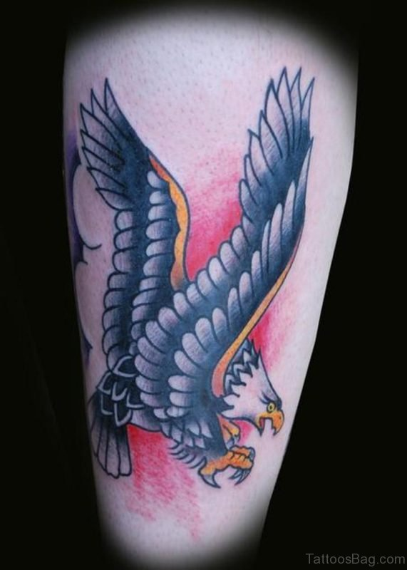 Screaming Eagle Old School Tattoo