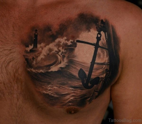 Sea And Anchor Tattoo