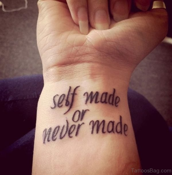 Self Made Or Never Made