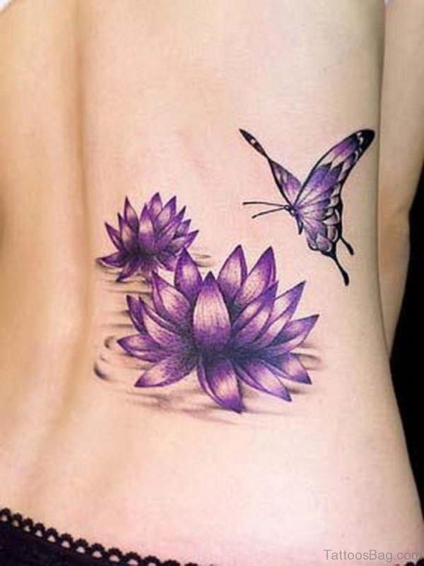 Sexy Blue Lotus Tattoo