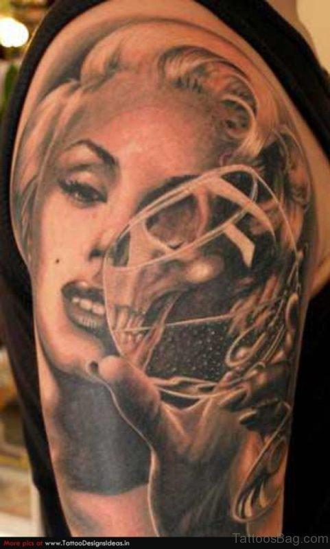 Sexy Pin Up Girl Portrait Tattoo