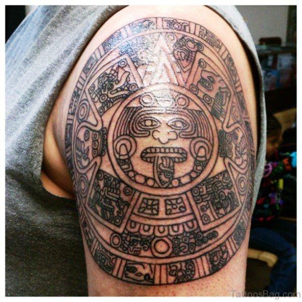 Shining Aztec Tattoo Design
