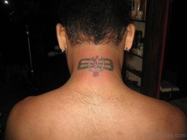 Shiv Ji Neck Tattoo On Neck