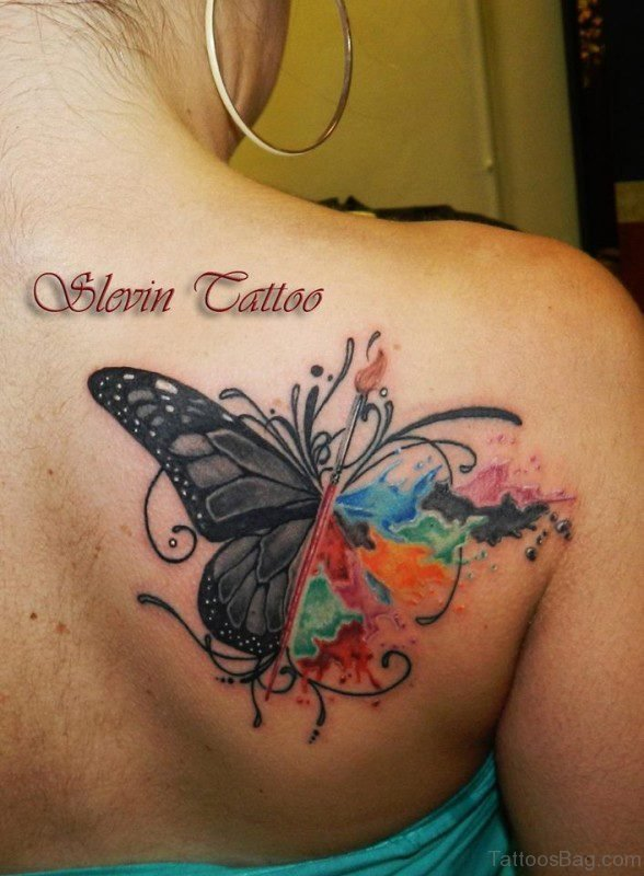 Shoulder Blade Tattoo Design