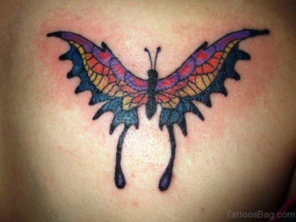 Shoulder Butterfly Tattoo