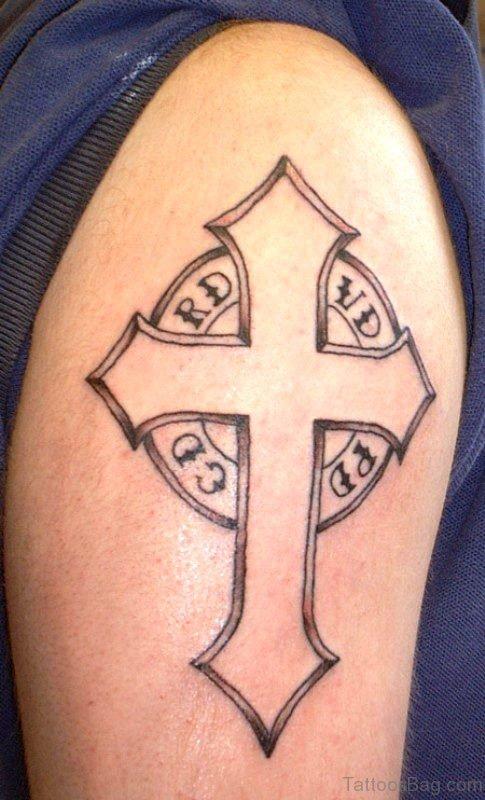 Shoulder Cross Tattoo