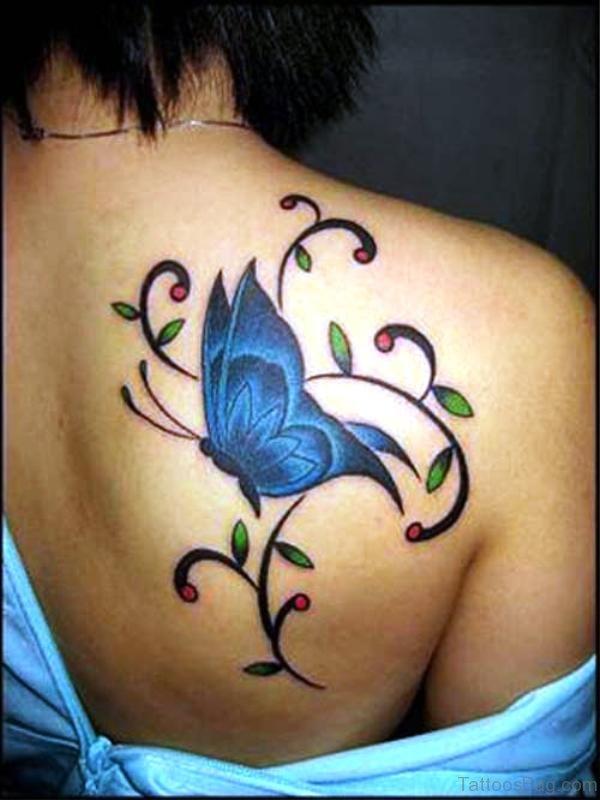 Shoulder Designer Butterfly Tattoo