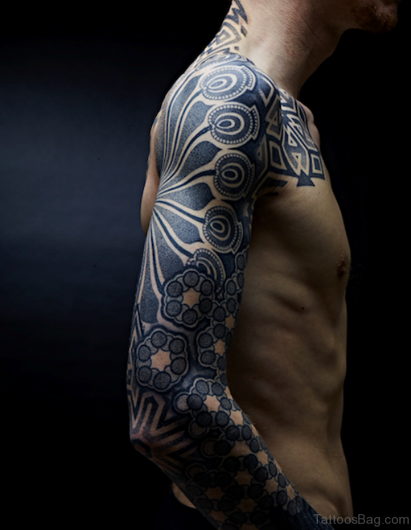 Shoulder Simple Geometric Tattoo