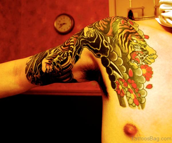 Shoulder Tiger Tattoo