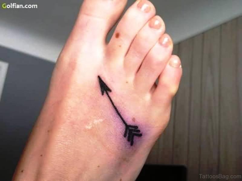 a3ecb8394 Similar Arrows Tattoos On Feet. Simple Black Arrow Design