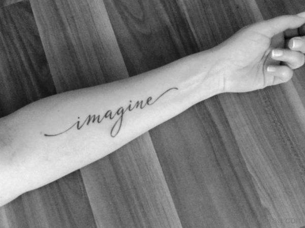 Simple Black and White Imagine Tattoo On Wrist