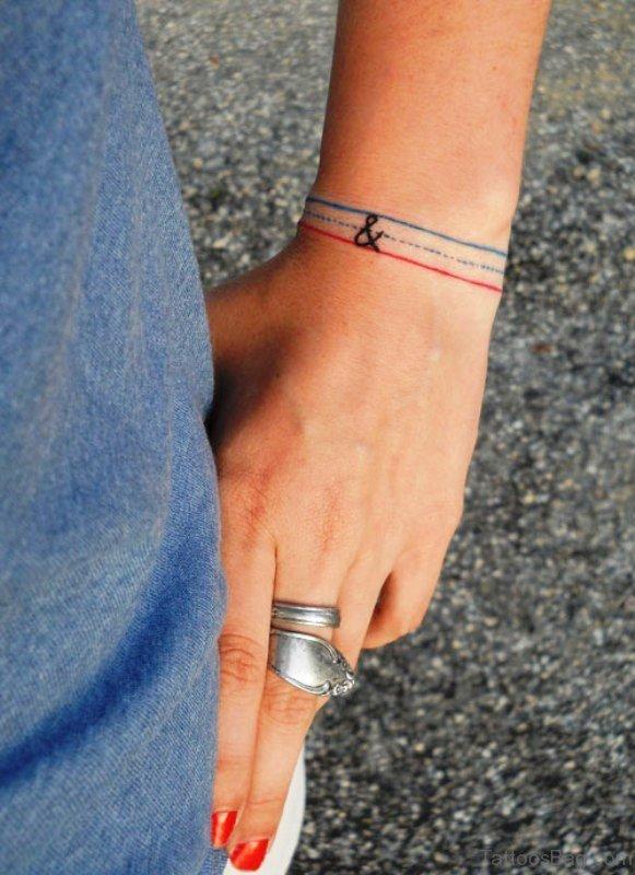 Simple Bracelet Tattoo On Wrist