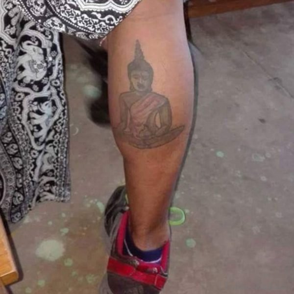 Simple Buddha Tattoo