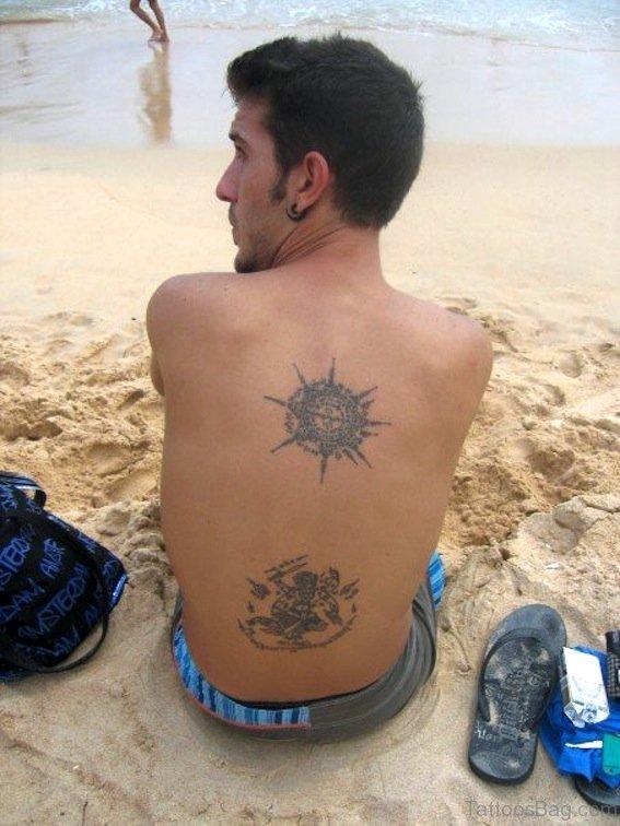 Simple Buddhist Tattoo On Back