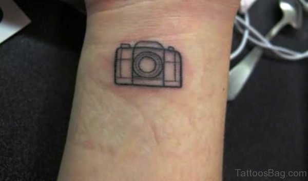 Simple Camera Wrist Tattoo
