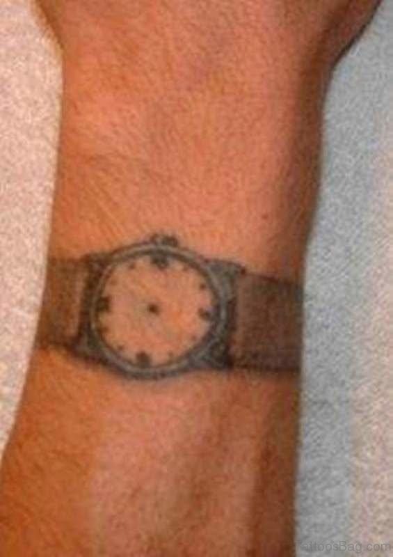 Simple Clock Tattoo Design