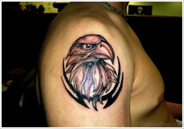 Simple Eagle Shoulder Tattoo Design