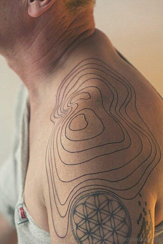 Simple Grey Geometric Tattoo