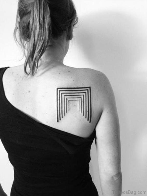 Simple Square Geometric Tattoo