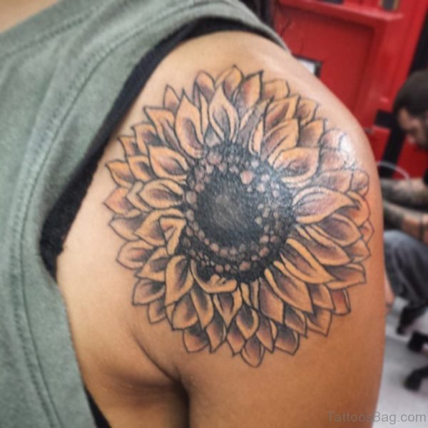 Simple Sunflower Tattoo