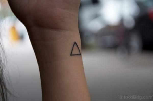 Simple Triangle Wrist Tattoo