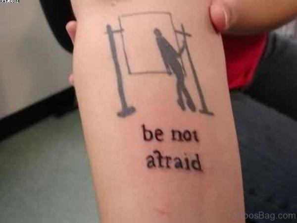 Simple Words Tattoo On Arm