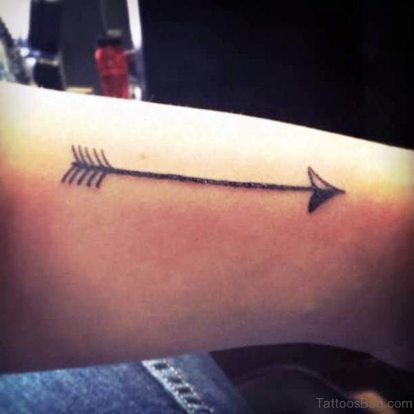 Simply Amazing Arrow Tattoo On Arm