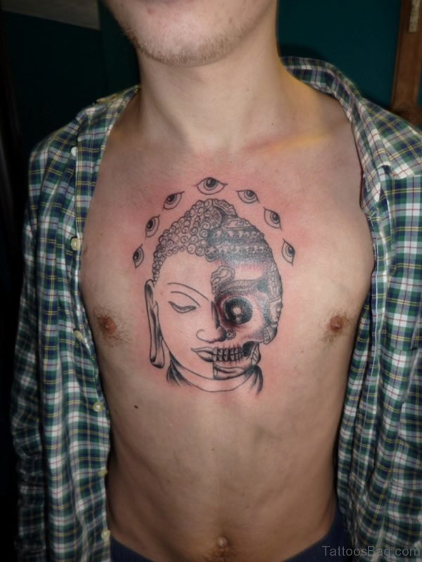 Skull And Buddha Tattoo